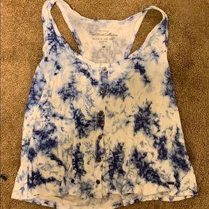 Tie dye blue tank top from hollister